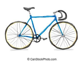 ベクトル, イラスト, の, 道, bicycle.