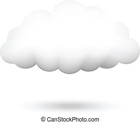 ベクトル, イラスト, の, 雲