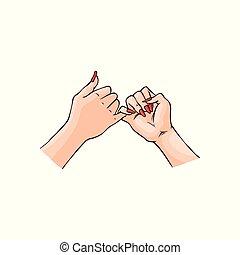 小指イラストとクリップアート2475 小指ロイヤリティ フリーイラスト