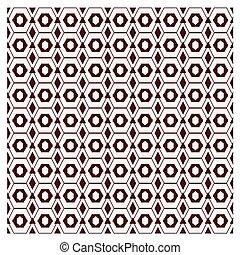 ベクトル, イラスト, セット, 黒い、そして白い, 六角形, アウトライン, 格子パターン, ベクトル, 抽象的, 壁紙, 上に, グレーのバックグラウンド