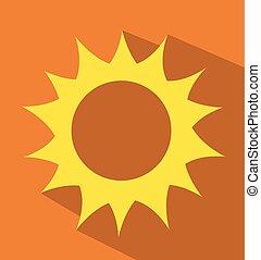 ベクトル, イラスト, 日の出, 太陽