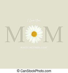 ベクトル, イラスト, 日, 挨拶, 母, カード, 幸せ