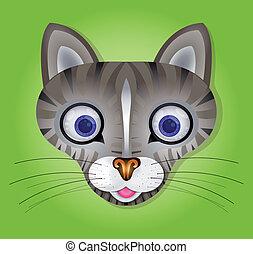 ベクトル, イラスト, cat.