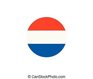 ベクトル, イラスト, netherland, 旗, デザイン