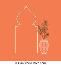 ベクトル, イラスト, terracotta, モロッコ