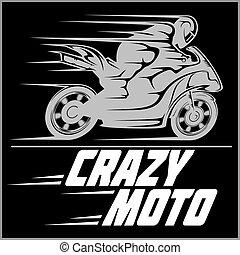 ベクトル, オートバイ, イラスト, racer.