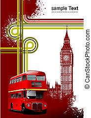 ベクトル, カバー, イラスト, images., ロンドン, パンフレット