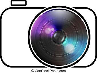 ベクトル, カメラ, アイコン