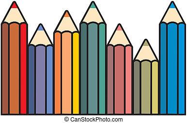 ベクトル, カラードの鉛筆
