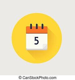 ベクトル, カレンダー, 5., 日