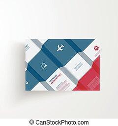 ベクトル, カード, infographics., 背景, 抽象的