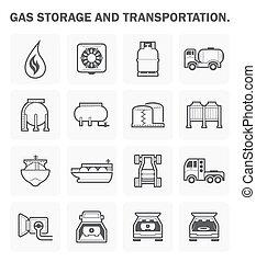 ベクトル, ガス, アイコン