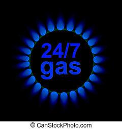ベクトル, ガス, 炎
