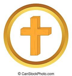 ベクトル, キリスト教徒, 交差点, アイコン