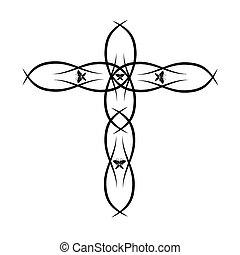 ベクトル, キリスト教徒, 交差点, 華やか