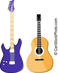ベクトル, ギター, セット