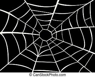 ベクトル, クモの巣, イラスト