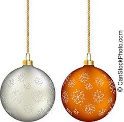 ベクトル, クリスマス, ボール