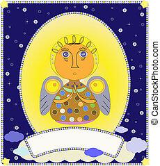 ベクトル, クリスマス, 天使