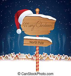 ベクトル, クリスマス, 背景