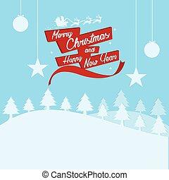 ベクトル, クリスマス, 陽気, 活版印刷