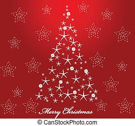 ベクトル, クリスマス, card.