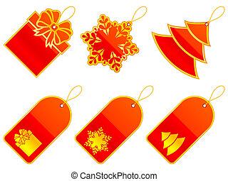 ベクトル, クリスマス, labels.