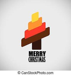 ベクトル, グラフィック, カラフルである, 木, 抽象的, -, 概念, クリスマス