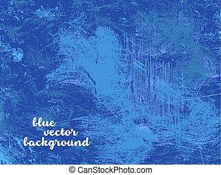 ベクトル, グランジ, 青い背景