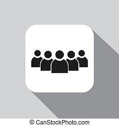 ベクトル, グループ, アイコン, 人々