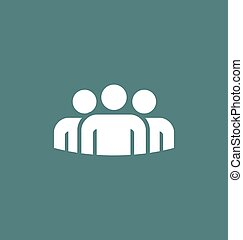ベクトル, グループ, 人々, アイコン