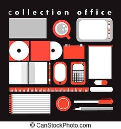 ベクトル, コレクション, オフィス