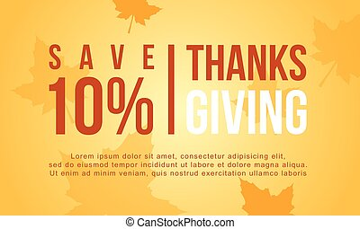 ベクトル, コレクション, セール, 平ら, 感謝祭