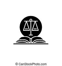 ベクトル, コード, 隔離された, 法的, 印, バックグラウンド。, 概念, 黒, イラスト, アイコン, シンボル