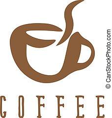 ベクトル, コーヒー, 概念, イラスト, カップ