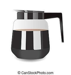 ベクトル, コーヒー, espresso., ポット, イラスト