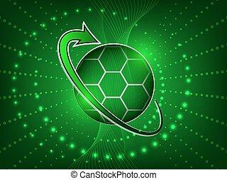 ベクトル, サッカー, 抽象的, ボール, 背景