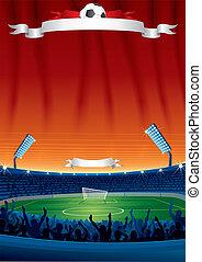 ベクトル, サッカー, 背景, テンプレート