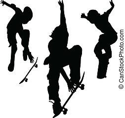 ベクトル, シルエット, スケーター