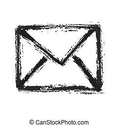 ベクトル, シルエット, 電子メール, シンボル