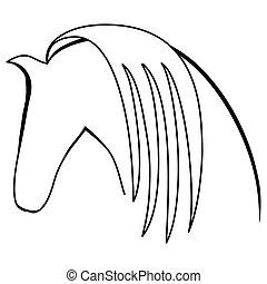 ベクトル, シルエット, horse.