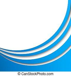 ベクトル, ストライプ, 抽象的, 青, 円, バックグラウンド。