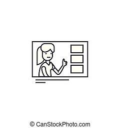 ベクトル, ストローク, editable, イラスト, 選択, 印, 背景, アイコン, 作成, 線