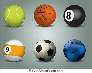 ベクトル, スポーツ, イラスト, ボール