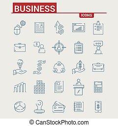 ベクトル, セット, ビジネス アイコン