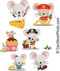 ベクトル, セット, マウス