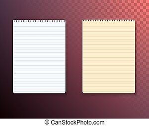 ベクトル, セット, メモ用紙