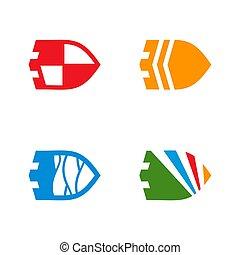 ベクトル, セット, 保護, ロゴ, デザイン, テンプレート