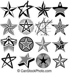 ベクトル, セット, 星