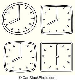 ベクトル, セット, 時計